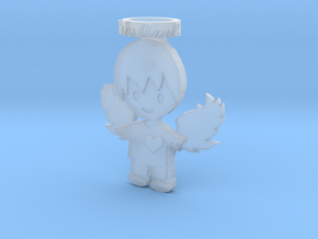 Pendant Frozen Detail Blue Angel Boy in Smooth Fine Detail Plastic
