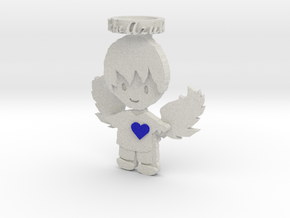 Pendant Full Color Blue Angel Boy in Full Color Sandstone