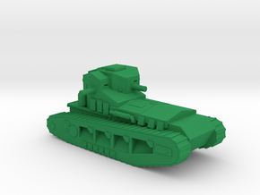 1/100 WW1 Whippet tank in Green Strong & Flexible Polished