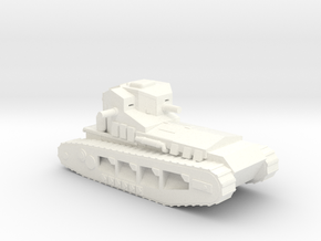 1/100 WW1 Whippet tank in White Strong & Flexible Polished