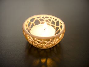 Tealight Holder in White Natural Versatile Plastic