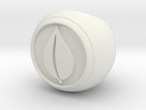 Elemental Dice in White Natural Versatile Plastic