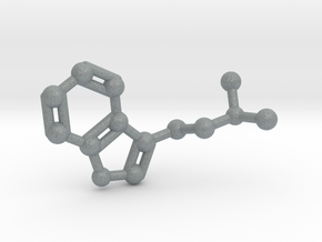 DMT (N,N-Dimethyltryptamine) Keychain Necklace in Polished Metallic Plastic