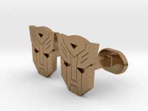 Transformers Cufflinks in Natural Brass