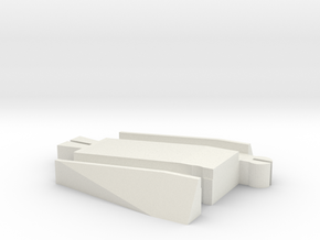 Male Tomy to Trackmaster Adapter in White Natural Versatile Plastic