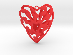 Heart Cage in Red Processed Versatile Plastic