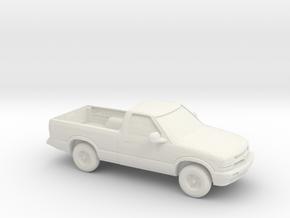 1/87 2000 Chevrolet S10 in White Natural Versatile Plastic
