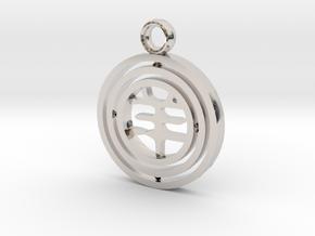 CheekyChi - Gimbal Charm (羊) in Platinum