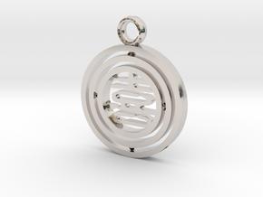 CheekyChi - Gimbal Charm (喜) in Platinum