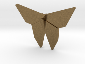 Origami Butterfly Pendant in Natural Bronze