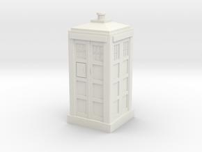 TARDIS Mini 30mm Scale in White Natural Versatile Plastic