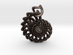 Twistlink from the Ammonite Range by unellenu in Stainless Steel