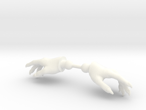 Wizard Hands Relaxed in White Processed Versatile Plastic