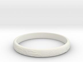 Ra ring(size = USA 5.5,Japan 10, English K) in White Natural Versatile Plastic