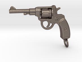 Russian Gun - NAGANT in Polished Bronzed Silver Steel