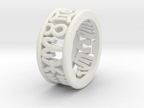 Constellation symbol ring 4-4.5 in White Natural Versatile Plastic
