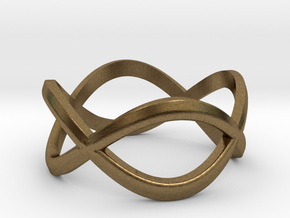 Infinity Ring in Natural Bronze