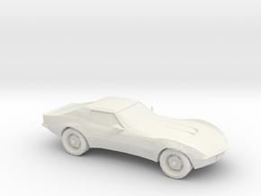 1/87 1969 Corvette C3 Stingray in White Strong & Flexible