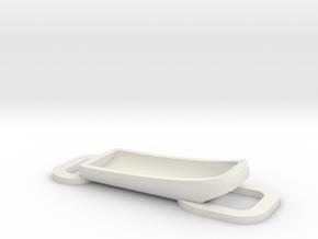 Paracord bracelet holder for Fitbit Flex in White Natural Versatile Plastic