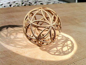 3D 100mm Orb of Life (3D Seed of Life)  in White Natural Versatile Plastic