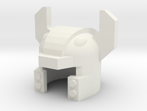 Robohelmet: Murdermoo in White Strong & Flexible