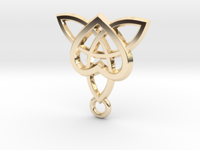 Celtic Heart Pendant in 14K Yellow Gold