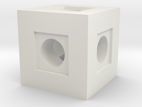 Basic Block in White Natural Versatile Plastic