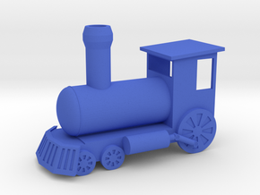 Ornament, Toy Train in Blue Strong & Flexible Polished