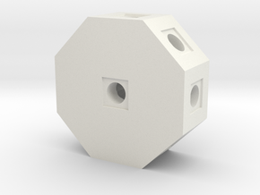 Octo Block in White Natural Versatile Plastic