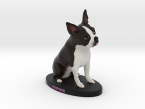 Custom Dog Figurine - Sophie in Full Color Sandstone