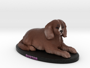 Custom Dog Figurine - Buster in Full Color Sandstone