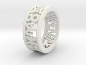 Constellation symbol ring 7.5-8 in White Natural Versatile Plastic