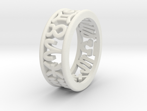 Constellation symbol ring 9.5 in White Natural Versatile Plastic
