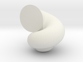 Shell Test in White Natural Versatile Plastic