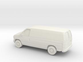 1/87 2002 Ford Econoline in White Natural Versatile Plastic