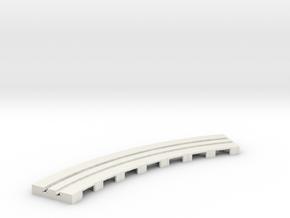 P-65stp-curve-tram-long-145r-100-pl-1a in White Natural Versatile Plastic