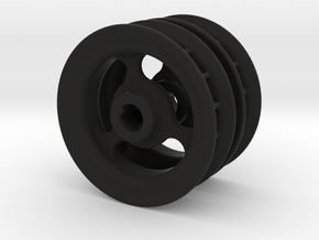 2x wide polargraph sprockets 5mm axle in Black Strong & Flexible