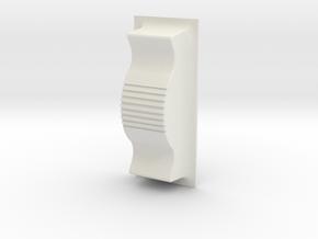 Spitfire Rocker Button in White Natural Versatile Plastic