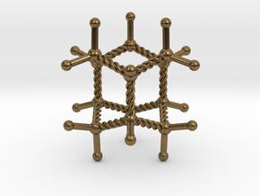 Iceane Pendant in Natural Bronze
