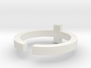 (USA) 10-3/4 Cross - Multiple Sizes in White Natural Versatile Plastic