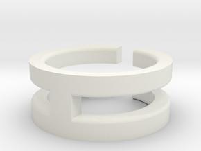 (USA) 7 Void Cross - Multiple Sizes in White Natural Versatile Plastic
