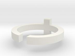(USA) 8-1/4 Cross  - Multiple Sizes in White Natural Versatile Plastic