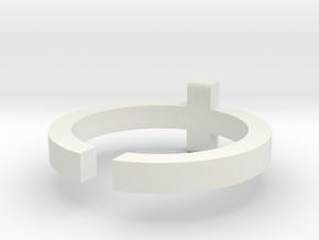 (USA) 9-1/4 Cross  - Multiple Sizes in White Natural Versatile Plastic