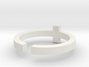 (USA) 13 Cross - Multiple Sizes  in White Natural Versatile Plastic
