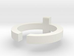(USA) 6 Cross - Multiple Sizes in White Natural Versatile Plastic