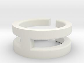 (USA) 6 Void Cross - Multiple Sizes in White Natural Versatile Plastic