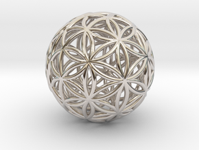 3D 25mm Orb Of Life (3D Flower of Life) in Platinum