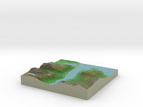 Terrafab generated model Fri Jan 09 2015 13:40:36  in Full Color Sandstone