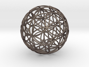 3D 88mm Orb of Life (3D Flower of Life) in Stainless Steel