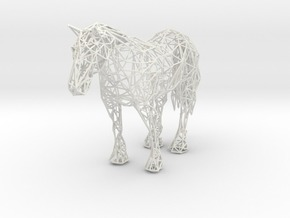 Wireframe Horse in White Strong & Flexible